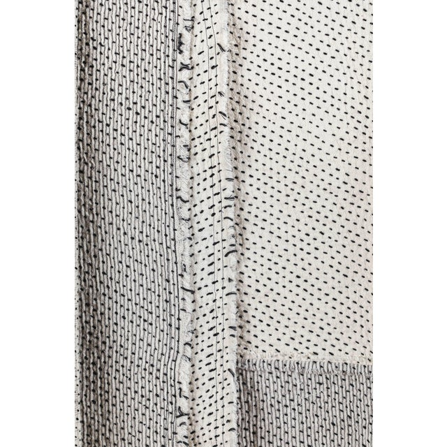 Chindi Indian Kantha Stitch Quilted Bedcover For Sale - Image 9 of 10