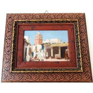 European School Oil on Wood Orientalist Painting For Sale