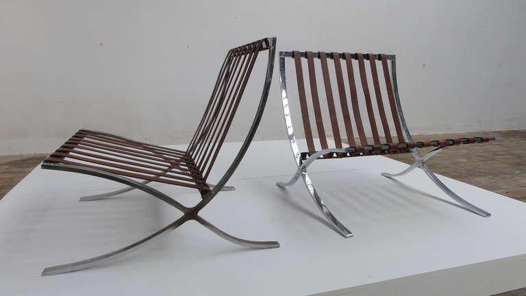 Screw Frame 1947 1954 Production Mies Van Der Rohe U0027u0027Barcelonau0027u0027 Chairs