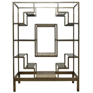 1970s Italian Modernist Glam Etagere or Room Divider - Manner of Romeo Rega For Sale