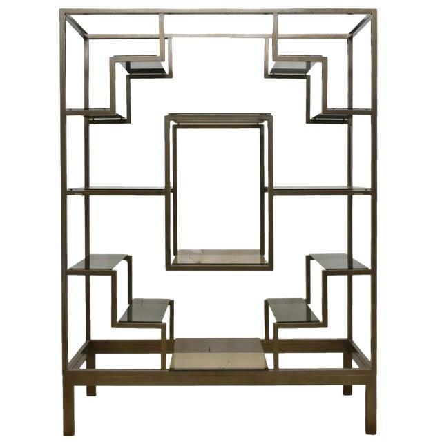 1970s Italian Modernist Glam Etagere or Room Divider - Manner of Romeo Rega For Sale