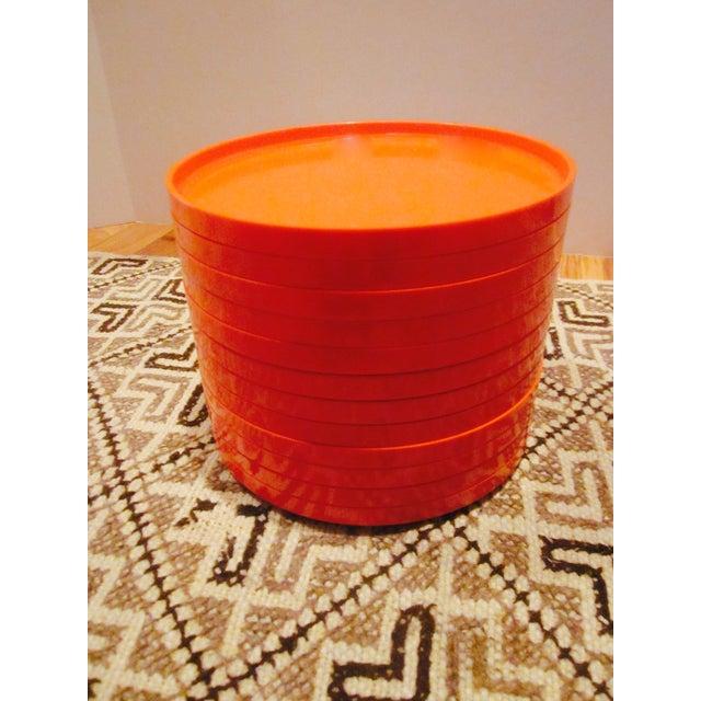 Heller Vignelli Stacking Orange Plate Bowl 30 Pcs - Image 9 of 11