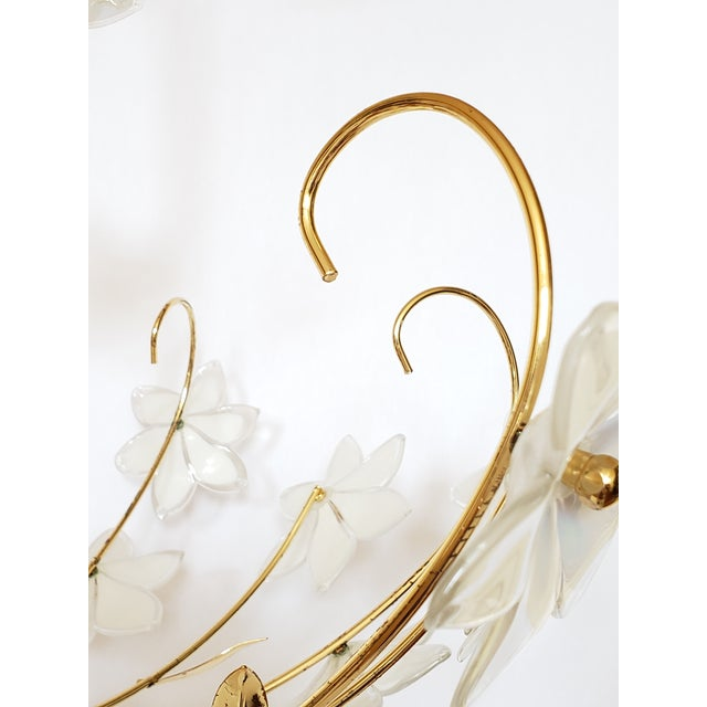 Mid Century Italian Murano Glass Chandelier For Sale In New York - Image 6 of 12
