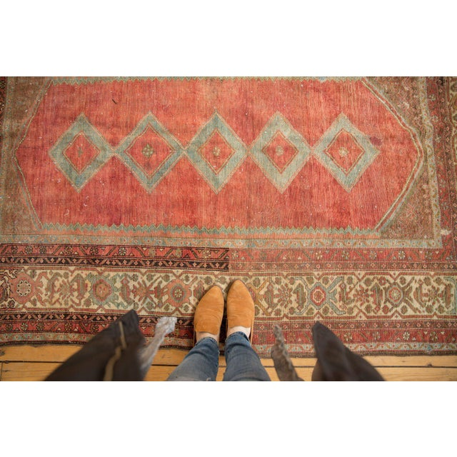 """Vintage Distressed Malayer Rug - 5' X 7'7"""" For Sale - Image 12 of 13"""