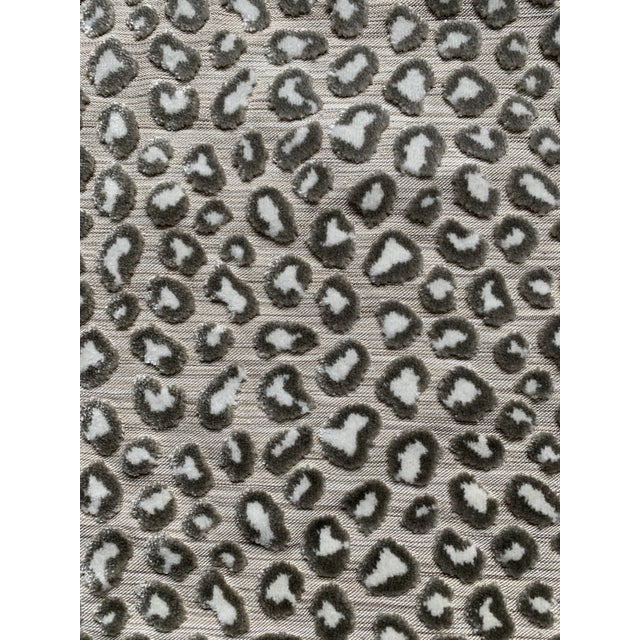 1 Yard Colefax and Fowler Wilde Leopard Velvet Fabric For Sale