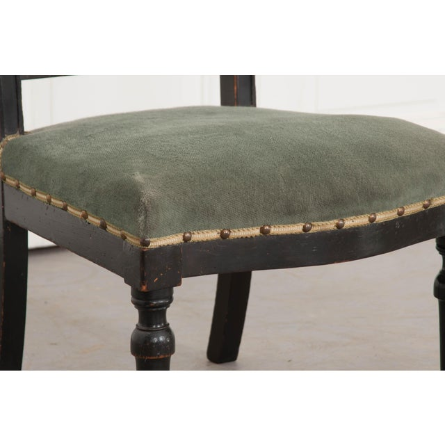 Metal French 19th Century Upholstered and Ebonized Prie Dieu For Sale - Image 7 of 13
