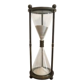Restoration Hardware Vintage Style Brass Hourglass For Sale