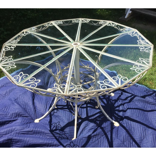 Antique 19th Century Wrought Iron 12-Sided French Table For Sale - Image 4 of 10