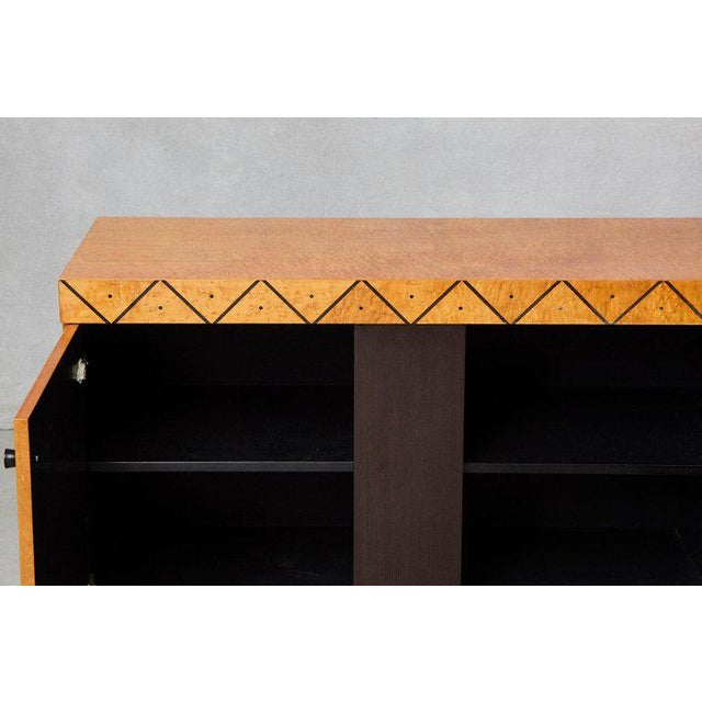1980s Pace 'Boca' Collection Memphis Style Inspired Lacquered Credenza For Sale - Image 5 of 9