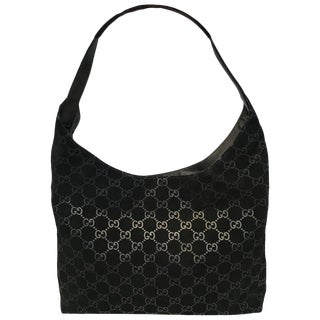 bea504093b02 Vintage Gucci Accessory Collection Era Class Monogram Messenger Bag ...