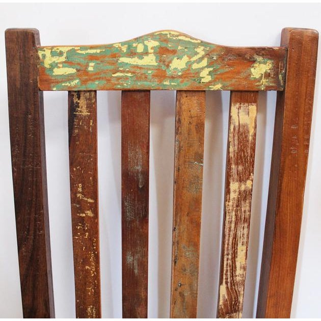 Reclaimed Wood Dining Chair - Image 2 of 2