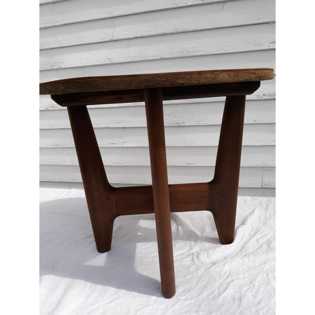Wood 1960s Mid-Century Modern Angel Pazmino, Ecuador, Leather and Wood Table For Sale - Image 7 of 12