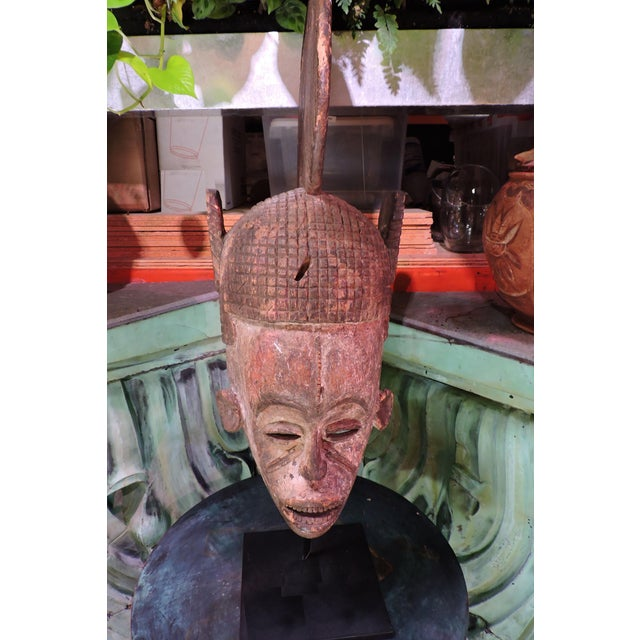 Early 1900s Nigerian Igbo Tribal Mask. One of two Igbo mask offerings from Living Green Design.