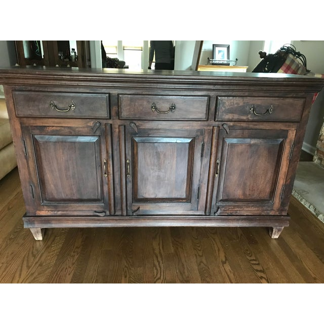 Traditional Mig Sand Tig Sideboard Buffet For Sale - Image 3 of 7