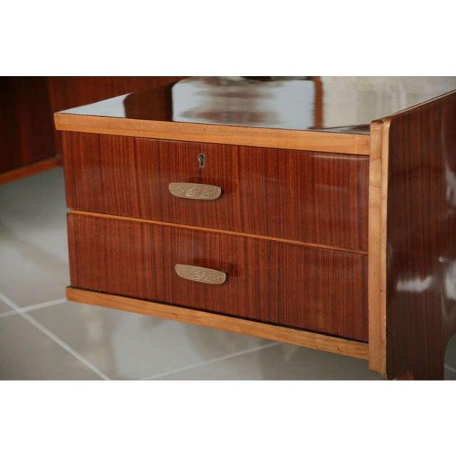 Italian Italian Modern Mahogany and Walnut Desk, Paolo Buffa For Sale - Image 3 of 5