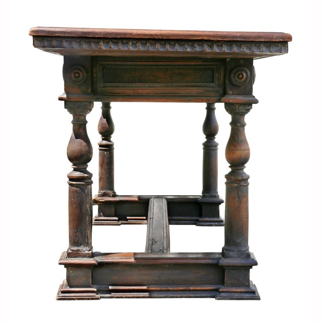 Italian Baroque Walnut Side Table For Sale - Image 10 of 12