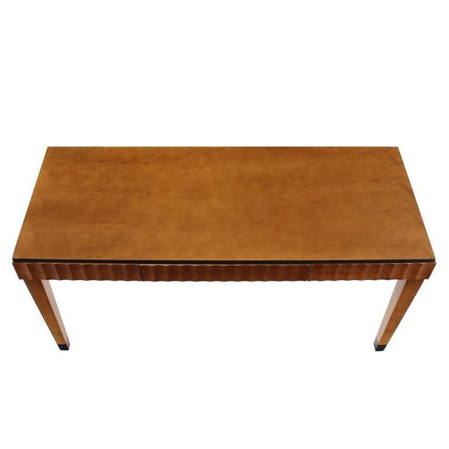 Early 20th Century Modern Scallop Edge Desk or Writing Table For Sale - Image 5 of 8