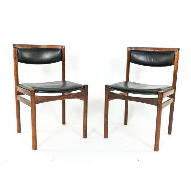 Six Mid-Century Modern Danish Dining Chairs, Soro Stolefabrik Denmark, Rosewood For Sale - Image 12 of 13