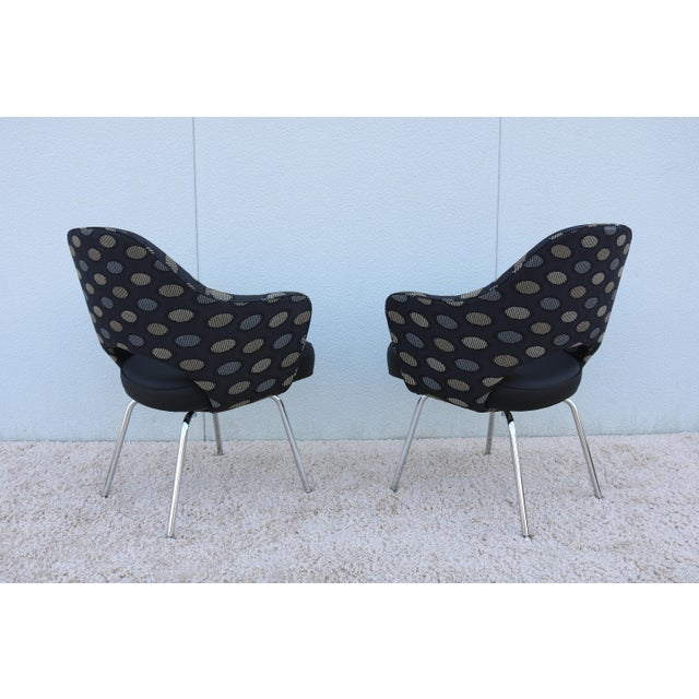 Chrome 1950sMid-Century Modern Knoll Eero Saarinen Executive Arm Chairs - a Pair For Sale - Image 7 of 13