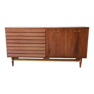 Merton Gershun for American of Martinsville Louvered Front Sideboard Credenza or Dresser