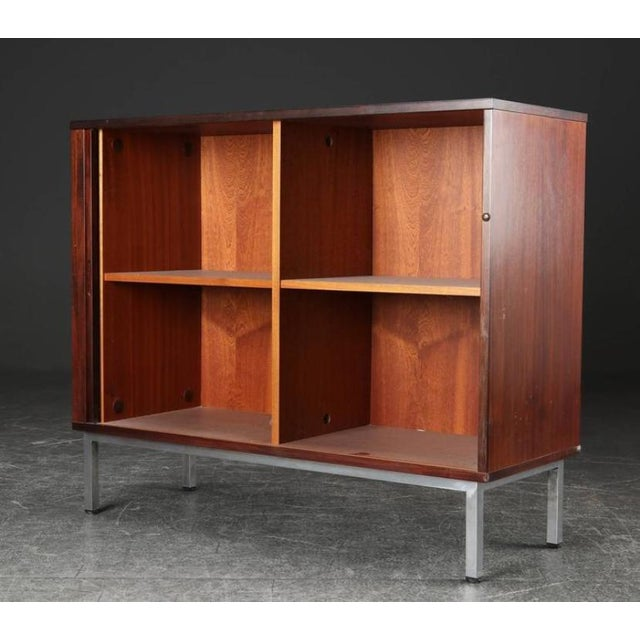 Danish Modern Danish Rosewood and Steel Cabinet, 1960s For Sale - Image 3 of 5