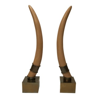 Chapman Faux Resin Ivory Tusks - A Pair