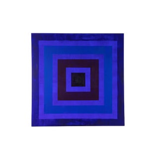 Geometric Op-Art Style Acrylic Painting by Michael Daniels For Sale