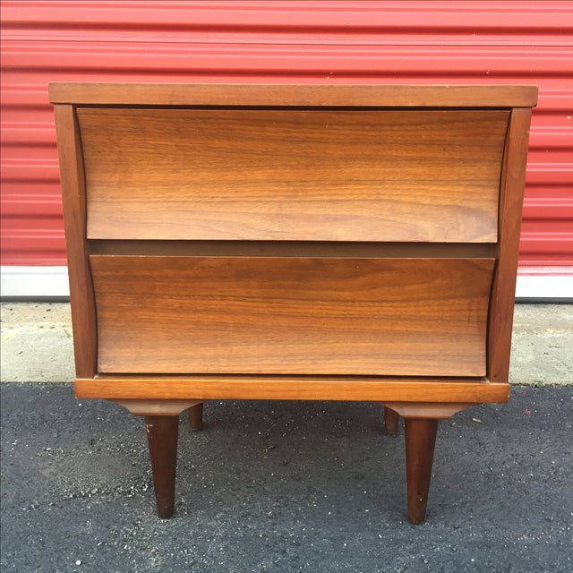 Mid-Century Modern Two Drawer Nightstand - Image 3 of 7