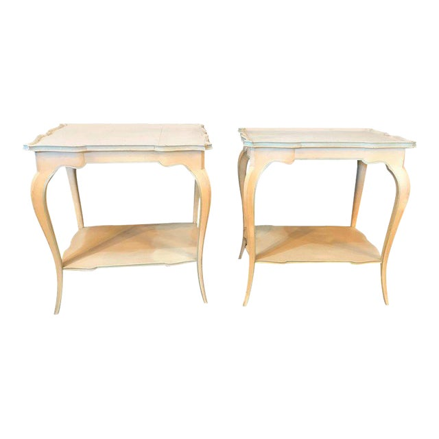 Distressed Paint Decorated Maison Jansen Side Tables or Night Tables - a Pair For Sale - Image 12 of 12