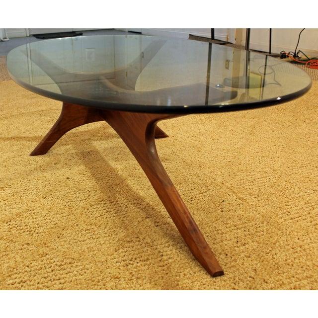 Lane Pearsall Coffee Table: Mid-Century Danish Modern Adrian Pearsall Walnut Glass Top