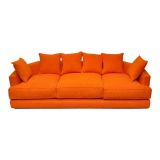 Mid-Century Modern Angled Sofa For Sale