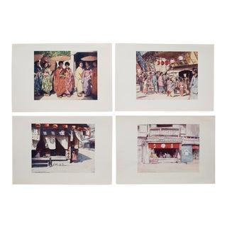 1901 Mortimer Menpes, Japan Original Period Lithographs, Set of 4 For Sale