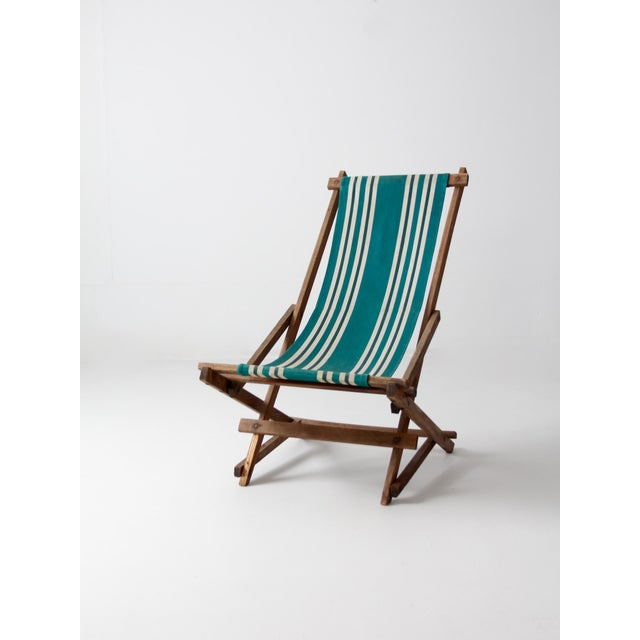 Vintage American Deck Chair For Sale - Image 4 of 9