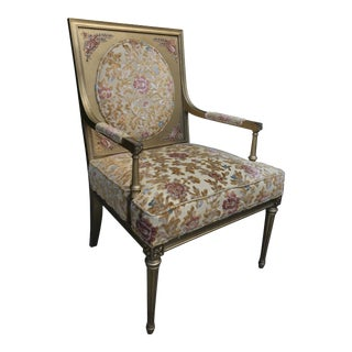 Louis XVI Style Handpainted Chair For Sale