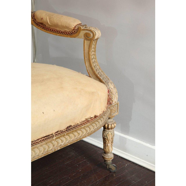 Pair of 19th Century, Louis XVI Settees For Sale - Image 4 of 12