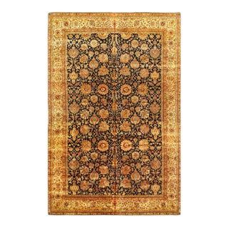 Pasargad Navy Blue Hand Knotted Agra Rug 12' X 18' For Sale
