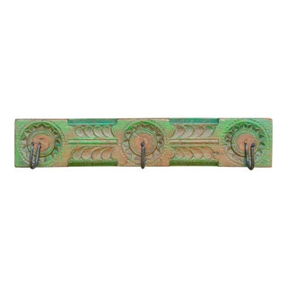 Emerald Carved Wall Hook Panel For Sale