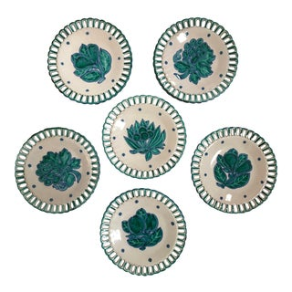 Italian Hand Painted Fruit Plates - Set of 6 For Sale