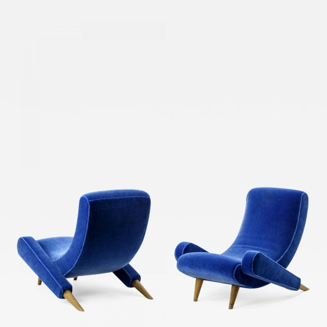 "Jean Royere Stunning Documented Pair of Lounge Chairs Model ""Varsano"" For Sale - Image 13 of 13"