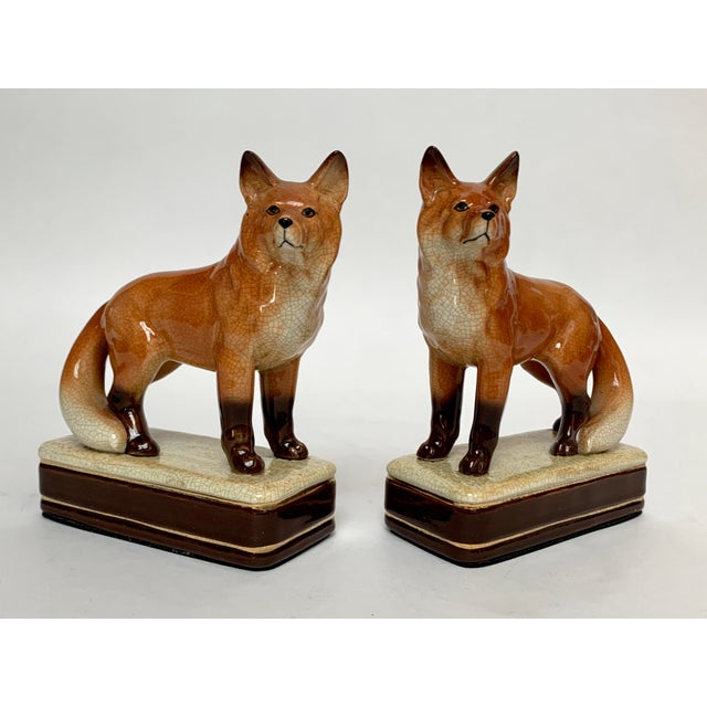 Staffordshire Style Fox Bookends – a Pair For Sale - Image 12 of 12