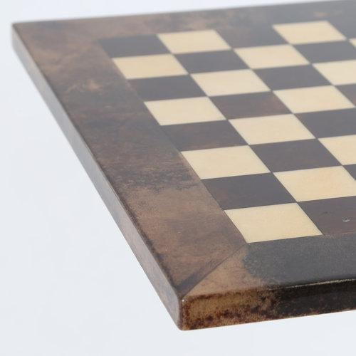 Aldo Tura 1950S ALDO TURA GOATSKIN GAMES TABLE WITH BRASS BASE For Sale - Image 4 of 10