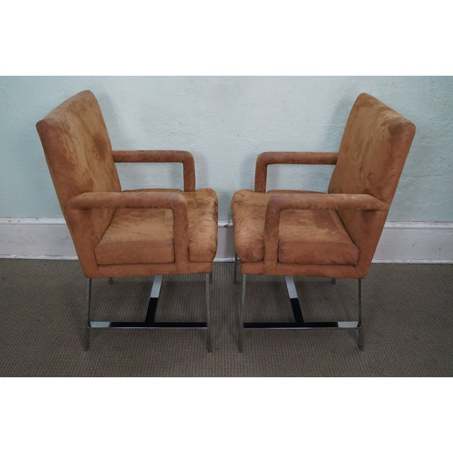 Mid-Century Modern Milo Baughman Mid-Century Chrome Chairs - A Pair For Sale - Image 3 of 10