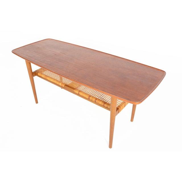 Danish Modern Teak Surfboard Coffee Table - Image 1 of 8