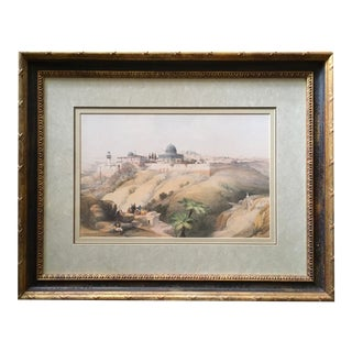 """Framed Reproduction of 19th C. """"Church of the Purification, Jerusalem"""" Lithograph After David Roberts For Sale"""