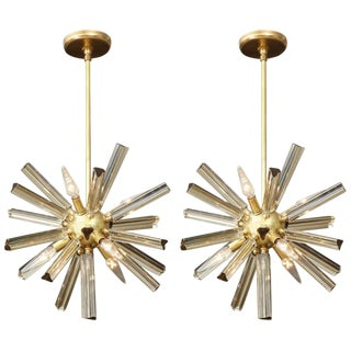 1970s Vintage Small Sputnik Chandeliers- A Pair For Sale
