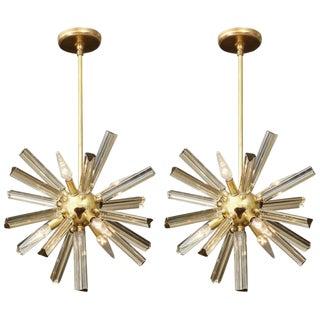 1970s Vintage Small Sputnik Chandeliers- A Pair For Sale