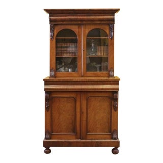 19th Century Victorian Mahogany Display Cabinet For Sale