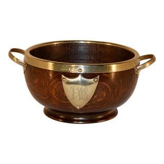Edwardian Oak Treen Bowl, C. 1900 For Sale