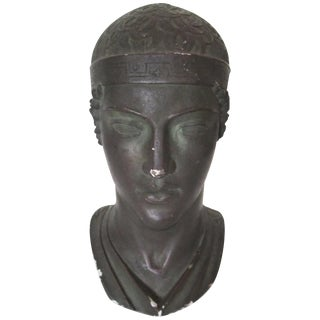 Midcentury Greek or Roman Bust Sculpture For Sale