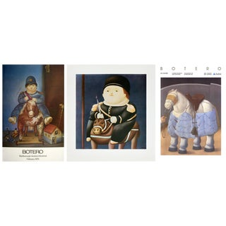 Bundle - 3 Assorted Fernando Botero Horse & Rider Study Posters For Sale